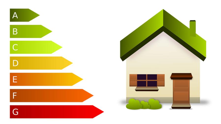 infografica sulle classi energetiche delle case